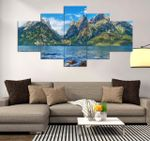 Grand Teton Beautiful Place 5 Pieces Canvas Wall Art Home Decor 10