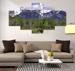 Grand Teton Beautiful Place 5 Pieces Canvas Wall Art Home Decor 7
