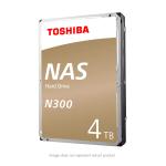 Toshiba N300 4TB NAS Internal Hard Drive 7200 RPM SATA 6Gb/s 128 MB Cache 3.5inch - HDWQ140XZSTA