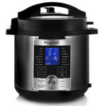 Megachef 6 Quart Stainless Steel Electric Digital Pressure Cooker with Lid