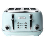 Haden Heritage 4-Slice, Wide Slot Stainless Steel Toaster, Light Blue Turquoise 75005