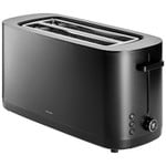 ZWILLING Enfinigy Cool Touch, Long Slot 4-slice Toaster, Wide Slot, 7 Toast Settings, Black