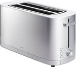 ZWILLING Enfinigy Cool Touch, Long Slot 4-slice Toaster, Wide Slot, 7 Toast Settings, Silver