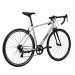 Decathlon Triban Abyss RC100, Aluminum Road Bike, 700c, Silver, L