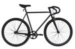 Wonder Wheels Fixed Bike 700C 57Cm Hi-Ten Steel Frame Side Pull Brake Alloy Black Rims 700C*1.5*14G*32H*H30 Black Spokes, Tire: Black. - Matte Black & Black