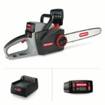 Oregon 40V Max CS300 Chainsaw Kit with 4.0 Ah Battery Pack and Charger.