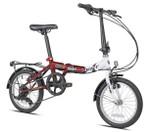 "Kent 16"" CRF Steel Folding Commuter Bike, Burgundy"