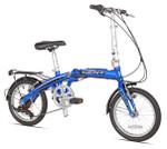 "Kent 16"" CRZ Aluminum Folding Commuter Bike, Blue"