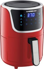1.7- Quart Mini Air Fryer with Digital Touchscreen, Red/Silver