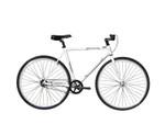Wonder Wheels Fixed Bike 700C 48 cm Hi-Ten Steel Frame Side Pull Brake Alloy Black Rims Black Spoke 700C*14G*32H, Tire: Black - White
