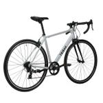 Decathlon Triban Abyss RC100, Aluminum Road Bike, 700c, Silver, M