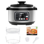 GoWISE USA Ovate 8.5-Qt 12-in-1 Electric Pressure Cooker Oval, Stainless Steel