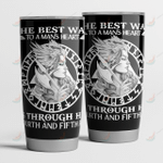 VIKING THE BEST WAY TO A MAN'S HEART TUMBLER