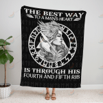 VIKING THE BEST WAY TO A MAN'S HEART QUILT BLANKET