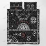 Vikings Tattoo Style Quilt Set - Bedding Set