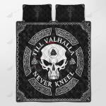 Skull Viking Tattoo Style Quilt Set - Bedding Set