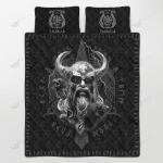 Viking Odin Ragnarok Quilt Set - Bedding Set