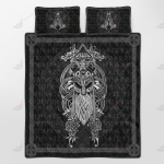Vikings - Odin Tatoo Style Quilt Set - Bedding Set