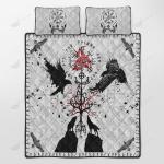 Viking Vegvisir Hugin and Munin with Fenrir Yggdrasil Quilt Set - Bedding Set