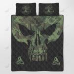 Viking - Son Of Odin - Die In Battle And Go To Valhalla Quilt Set - Bedding Set
