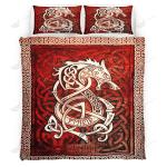 Fenrir Blood Quilt Set - Bedding Set VKQS0035