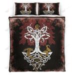 Tree Of Life Yggdrasil Viking Quilt Set - Bedding Set VKQS0040