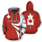 Canada Maple Flag Red 3D Hoodie