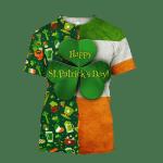 Happy St Patrick's Day Irish 3D All Over Print Hoodie | Sweatshirt | T-Shirt - 3D T-Shirt