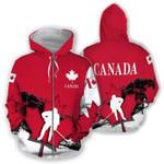 Canada Hockey Red 3D All Over Print Hoodie | Sweatshirt | T-Shirt