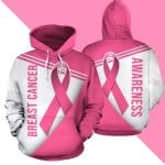 Breast Cancer Pink Ribbon 3D Hoodie All Over Print - 3D Hoodie