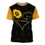 Jesus Sunflower It'S Not Religion It'S A Relationship 3D All Over Print | 3D Hoodies | 3D Sweatshirt | 3D T-Shirt