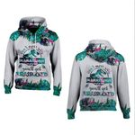 Don't Mess With Mamasaurus You'll Get Jurasskkked Tropical 3D All Over Print Hoodie