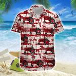 Red Tractor Palm Tree Hawaii Shirt