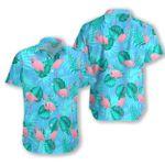 Flamingo Tropical leaves Hawaiian All Over Print Shirt