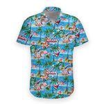 Flamingo Coconut tree Hawaiian All Over Print Shirt