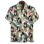 Bernese Mountain Tropical Leaves Hawaiian Shirt