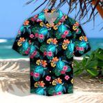 Turtle & Flower Tropical Leaves Hawaiian Shirt