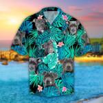 Pitbull Tropical Leaves Hawaiian Shirt