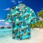 Beautiful Tropical Leaves & Turtle Hawaiian Shirt