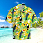 Parrots Tropical Leaves Hawaiian Shirt
