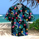Sailfish Tropical Leaves Hawaiian Shirt