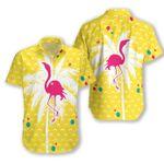 Flamingo Coconut tree Hawaiian Shirt