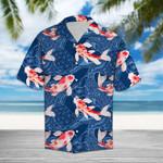 Koi Waves Fish Hawaiian Shirt