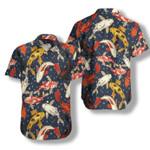 Koi Waves Pattern Hawaiian Shirt