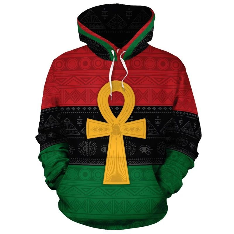 Pan African Ankh African Life Symbol 3D All Over Print Hoodie