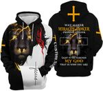 Way Maker Miracle Woker Jesus Lion 3D All Over Print Personalized Hoodie