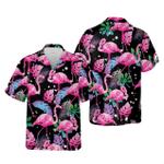 Flamingo Leaf Summer Hawaiian Shirt