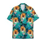 Pomeranian dog tropical hawaiian shirt