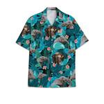 Elephant tropical hawaiian button shirt