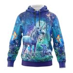 Unicorn Mom and Kid In The Forest 3D All Over Print Hoodie